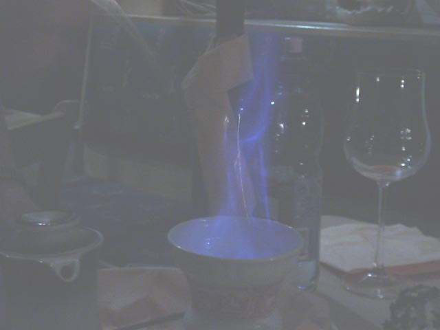 02929019 FRA Rudesheim Flaming Coffee.JPG (15704 bytes)